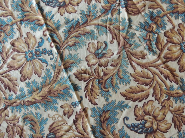 Antique Arts & Crafts printed twin bed headboard inset