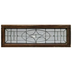 Antique Arts & Crafts Beveled Leaded Glass Window, Circa 1910