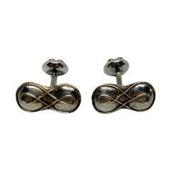 Antique Arts & Crafts Cufflinks in Sterling and Yellow Gold by George Shiebler