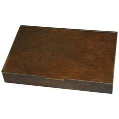 Antique Arts & Crafts Dirk Van Erp Hammered Copper Box, Lined, circa 1910