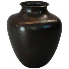 Antique Arts & Crafts Dirk Van Erp Hammered Copper Shouldered Vase, circa 1910