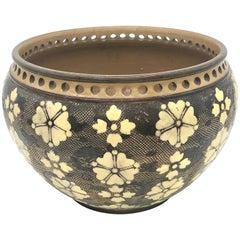 Antique Arts & Crafts Earthenware Flower Vase Doulton & Slaters Lambeth, England