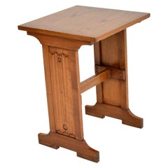 Antique Arts & Crafts Elm Writing Table