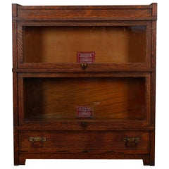 Antique Arts & Crafts Globe Wernicke Mission Oak Stack Barrister Bookcase