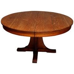Antique Arts & Crafts L&JG Stickley Mission Oak Shoe Foot Dining Table