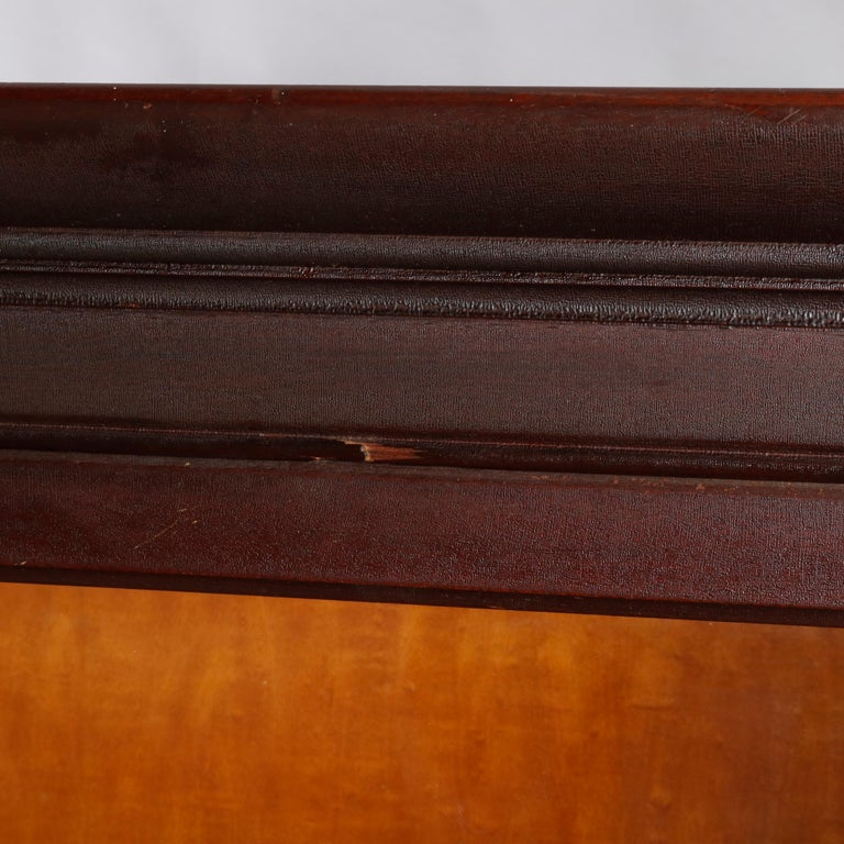 Antique Arts & Crafts Mahogany Barrister Bookcase with Mother of Pearl For Sale 11