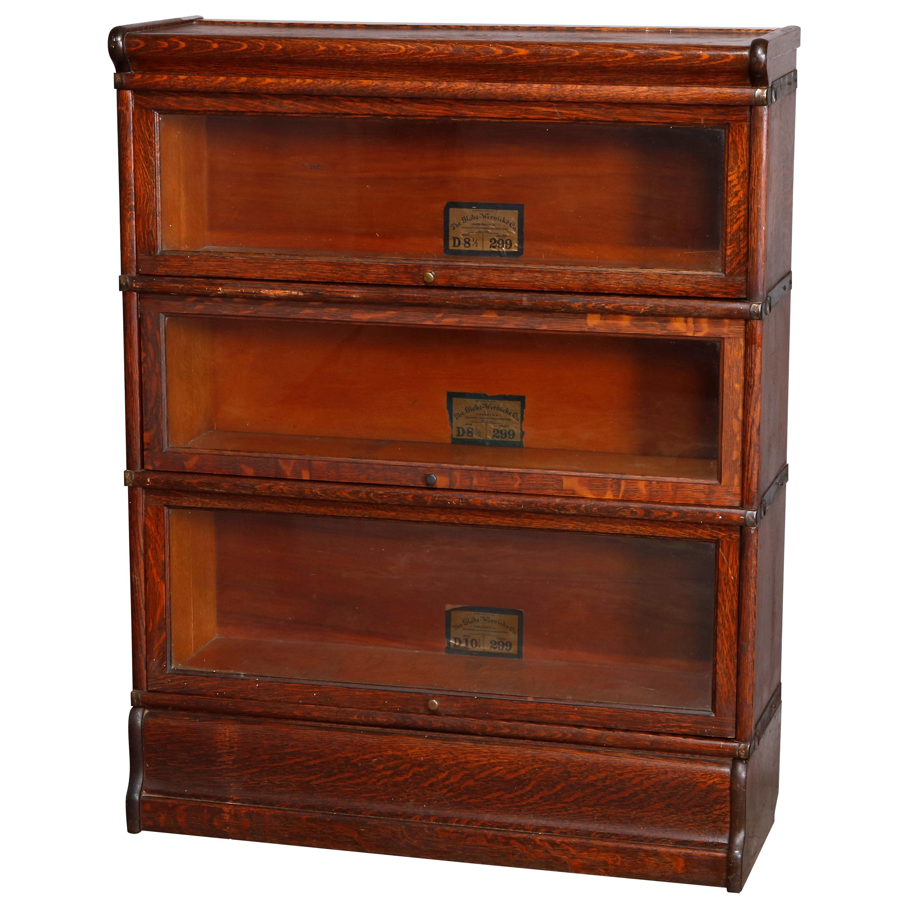 Antique Arts Crafts Mission Oak Barrister Bookcase By Globe Wernicke