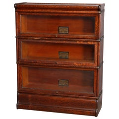 Antique Arts & Crafts Mission Oak Barrister Bookcase by Globe Wernicke