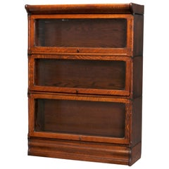 Antique Arts & Crafts Mission Oak Barrister Bookcase, circa 1910