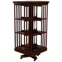 Antique Arts & Crafts Mission Oak Danner Revolving Bookcase, circa 1910