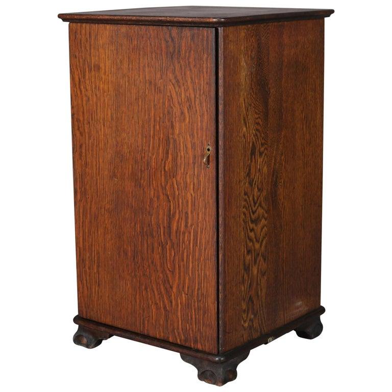 Antique Arts & Crafts Mission Oak Edison Cylinder and Phonograph Cabinet  For Sale - Antique Arts And Crafts Mission Oak Edison Cylinder And Phonograph