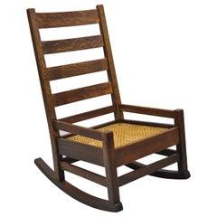 Excellent Original Ljg Stickley Mission Rocking Chair Oak At 1Stdibs Creativecarmelina Interior Chair Design Creativecarmelinacom