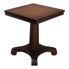 Antique Arts & Crafts Mission Oak Parlor Lamp Table, Circa 1910