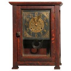 Antique Arts & Crafts Mission Oak Stickley Brothers School Mantel Clock