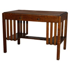 Antique Arts & Crafts Mission Oak Stickley School Desk, Circa 1920