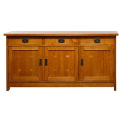 Antique Arts & Crafts Mission Oak Stickley Sideboard, 20th Century