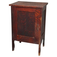 Antique Arts & Crafts Mission Quarter Sawn Oak Music Cabinet, circa 1910