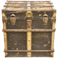 Arts & Crafts Mission Victorian Storage Trunk Chest with Distressed Finish