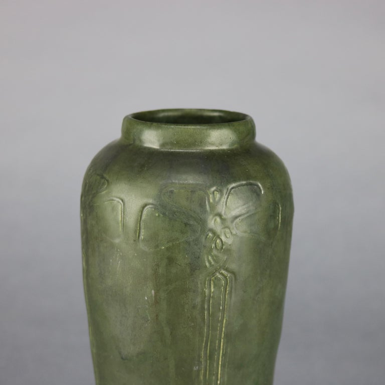 Arts and Crafts Arts & Crafts Grueby School Pottery Matte Vase, Circa 1910