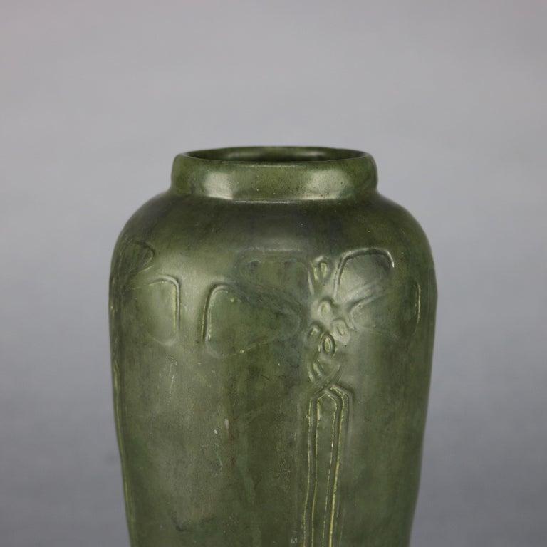 American Arts & Crafts Grueby School Pottery Matte Vase, Circa 1910