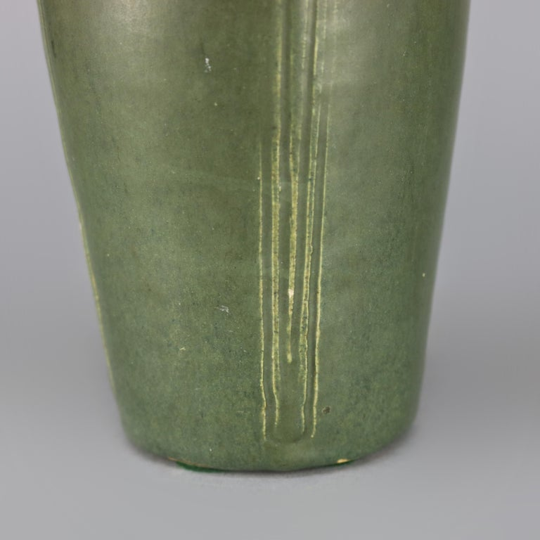 Fired Arts & Crafts Grueby School Pottery Matte Vase, Circa 1910