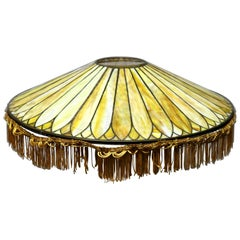 Antique Arts & Crafts Oversized Prairie School Dome Lamp Shade, circa 1910