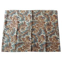 Antique Arts & Crafts Printed Floral Textile Panel
