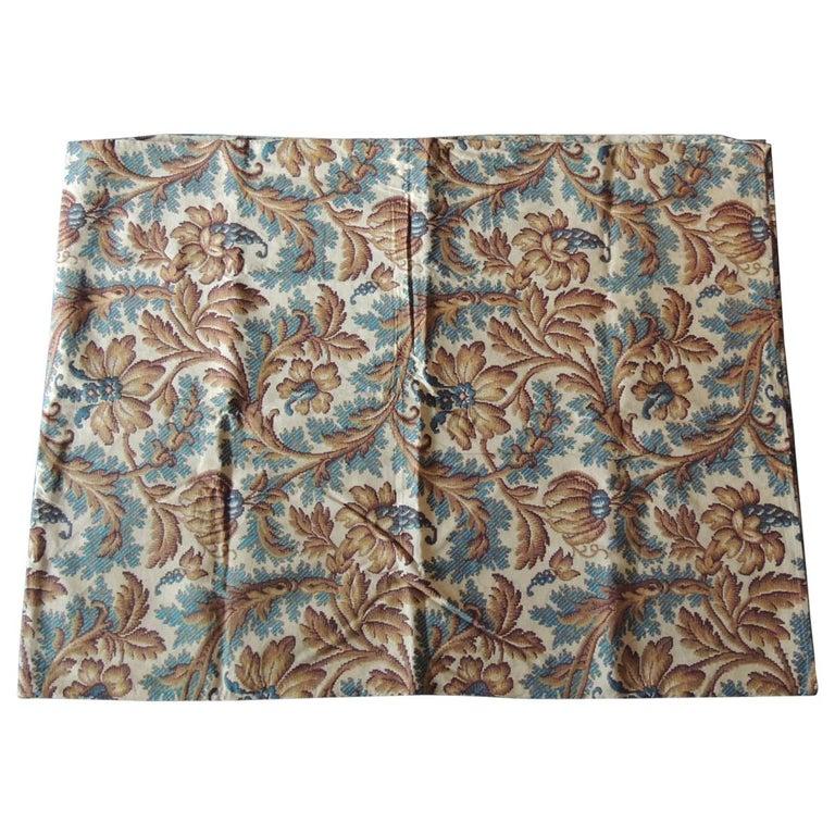 Antique Arts & Crafts Printed Floral Textile Panel For Sale