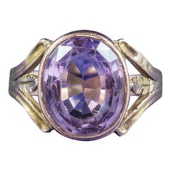 Antique Arts & Crafts Purple Spinel 15 Carat Gold circa 1900 Ring