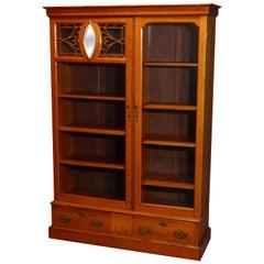 Antique Arts & Crafts Rockford Two-Door Oak Bookcase, circa 1920