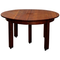 Antique Arts & Crafts Stickley Brothers Mission Oak Extension Dining Table