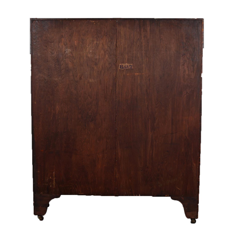 Antique And Vintage Secretaires 1495 For Sale At 1stdibs >> Antique Arts Crafts Stickley School Quarter Sawn Oak Enclosed Bookcase