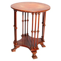 Antique Arts & Crafts Style Mahogany Stick and Ball Side Table, 20th Century