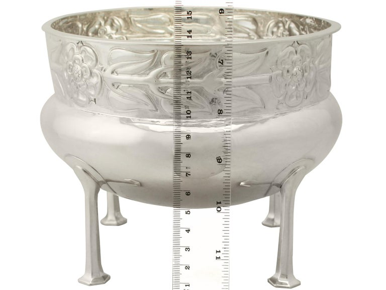 Antique Arts & Crafts Style Sterling Silver Jardinière or Bowl, 1916 For Sale 1