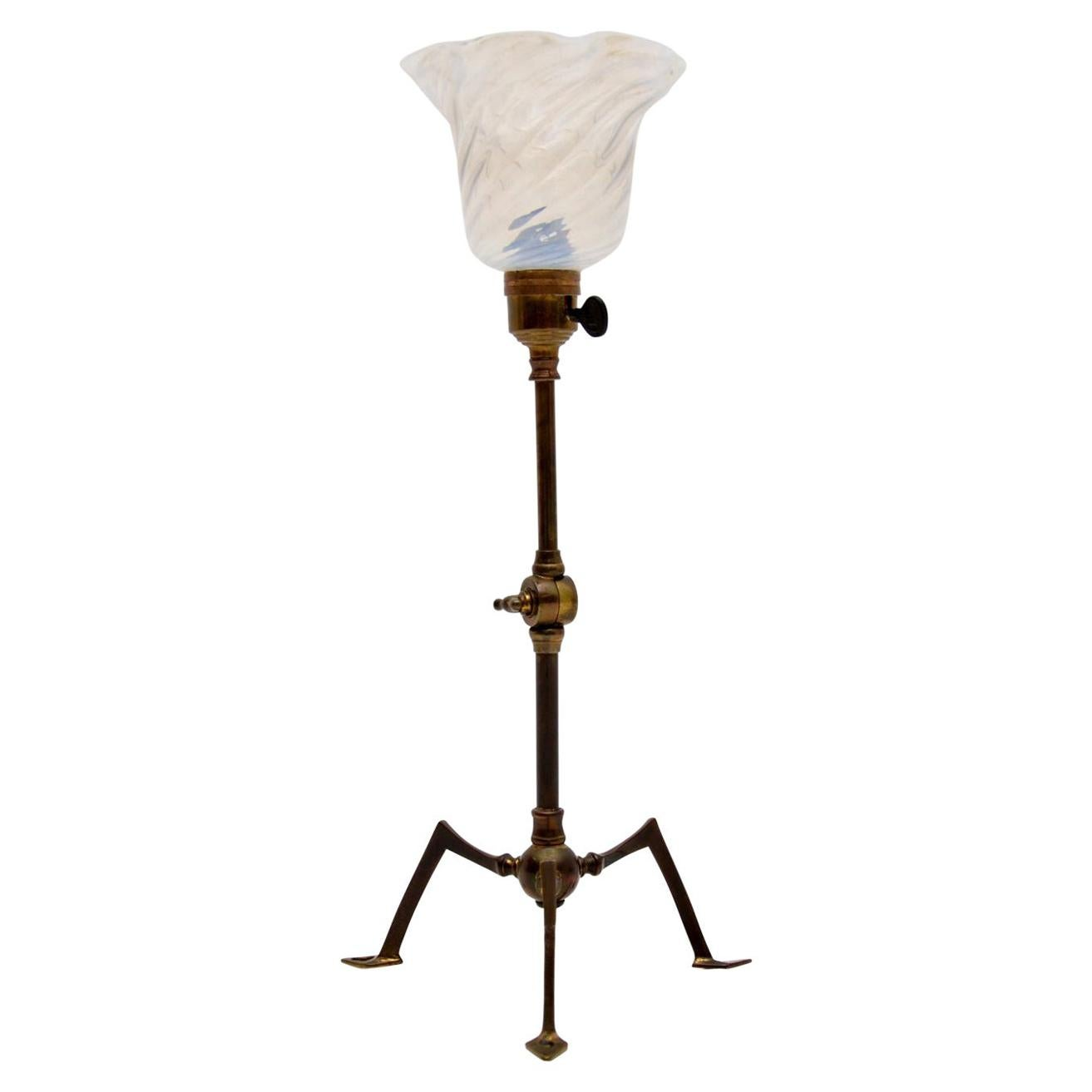 Antique Arts & Crafts Table or Wall Lamp by W.A.S Benson