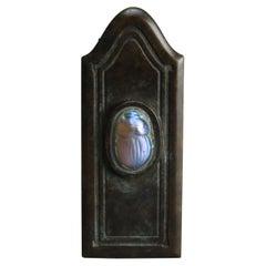 Antique Arts & Crafts Tiffany Studios Favrile Scarab & Bronze Letter Clip, c1900