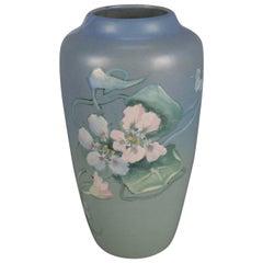 Antique Arts & Crafts Weller Hand-Painted Art Pottery Vase, Artist Signed