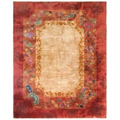 Antique Ary Deco Chinese Carpet, Unusual