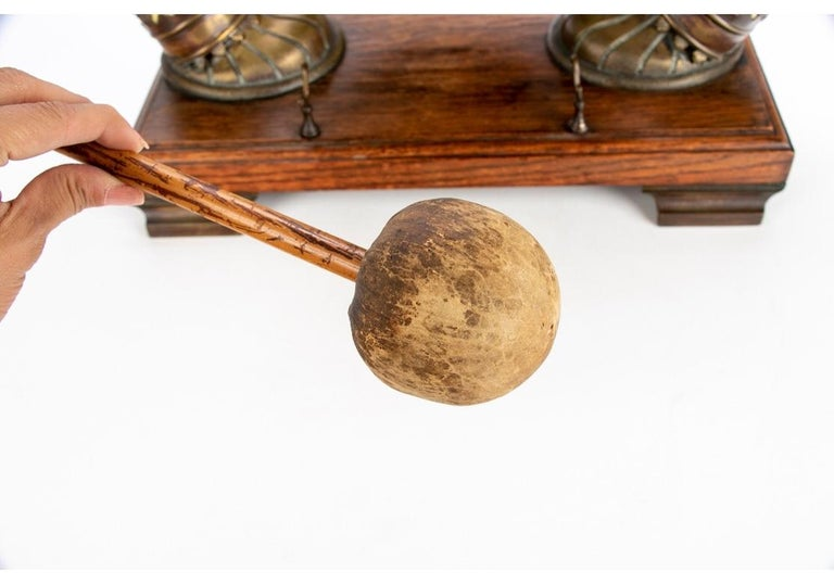 Tang Antique Asian Brass and Horn Gong For Sale