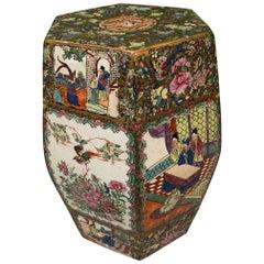 Antique Asian Chinoiserie Ceramic Garden Stool