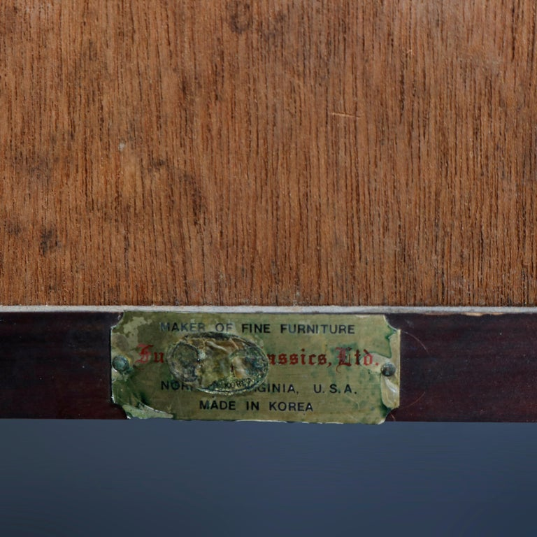 Antique Asian Mixed Wood & Brass Cellarette Cabinet, 20th Century For Sale 11