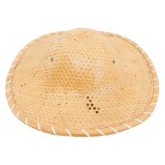 Antique Asian Rattan Hat, circa 1950 Precio Faltan Medidas
