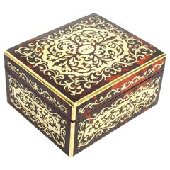 Antique Asprey Boulle and Cut Brass Marquetry Box, 19th Century