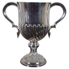 Antique Atkin Brothers English Silver Trophy Urn Bucket Cup Wine Chill 1644g