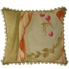 Antique Aubusson Tapestry Pillow, circa 1860
