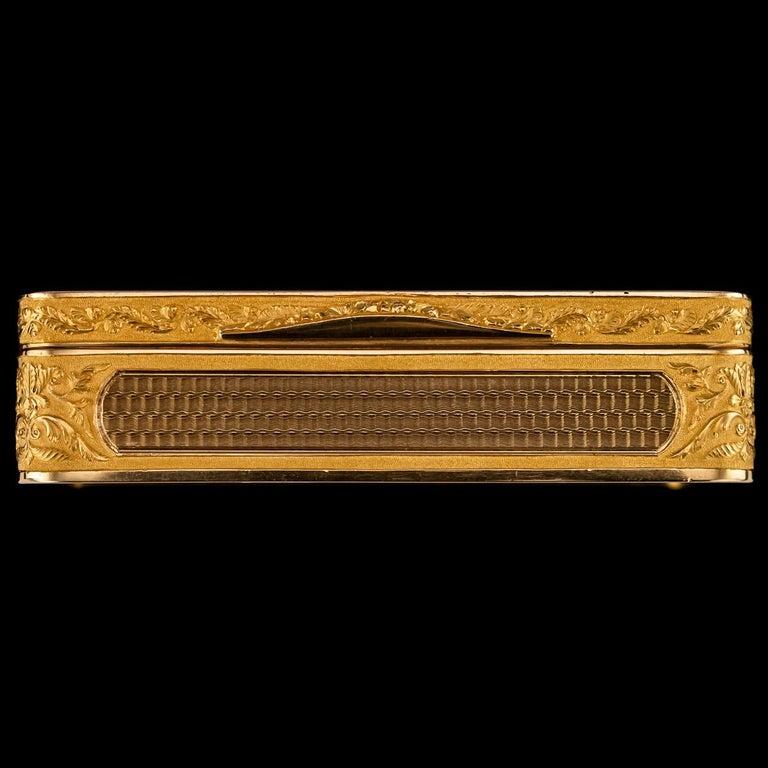 Antique Austrian 18 Karat Four-Color Gold Snuff Box, Felix Paul, circa 1810 For Sale 1