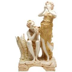 Antique Austrian Ernst Wahliss Royal Vienna Porcelain Spill Vase, circa 1900