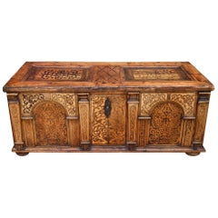 Antique Austrian Inlaid Desk, Mid-17th Century