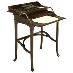 Antique Austrian Mahogany Flip-Top Campaign Desk Original Interior Fittings
