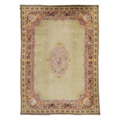 Antique Austrian Savonnerie Palace Size Rug with Louis XV Rococo Style